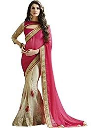 JHTEX FASHION Indian Women's Designer Fancy Georgette Saree