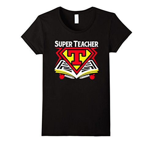 Womens Superhero Teacher T-shirt - Teaching Shirt Medium (Superhero Shirts Womens)