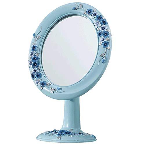 RMXMY Simple Moda Creativa Retro Hermosa encimera portátil Moda Linda Princesa Maquillaje vestidor Espejo