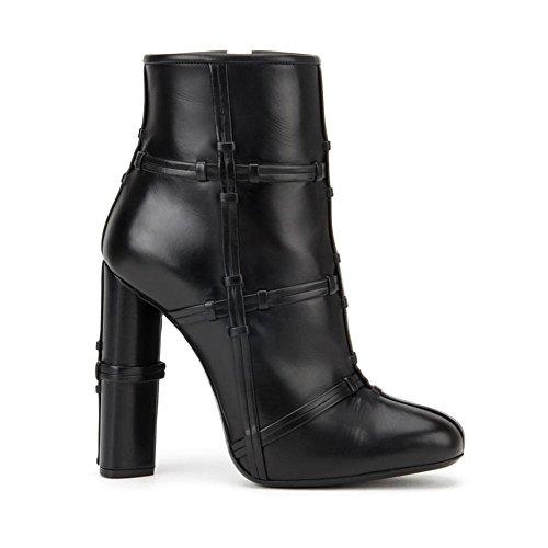 Tacón Cremallera Zapatos De Sexy Cruzada Mujer Black Prima Moda Lateral 071502 De TLJ Tacón Alta 40 Fiesta KJJDE Baile Botas Alto 7qwgUgx