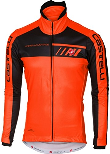 Castelli Velocissimo 2 Jacket - Men s Orange Black f8e90abb6