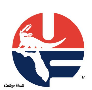 Wincraft Florida Gators UF Throwback College Vault 4x4 Perfect Cut Decals -