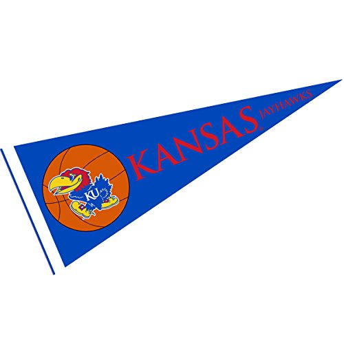 College Flags and Banners Co. Kansas KU Jayhawks Full Size Basketball Pennant