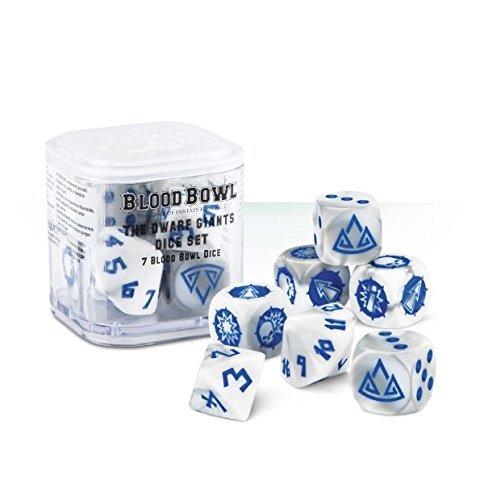 The Dwarf Giants Dice Set - 7 Blood Bowl Dice Games Workshop 99220905001