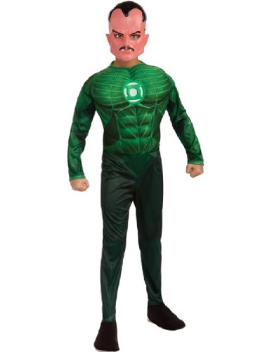 [Green  Lantern Child's Deluxe Sinestro Costume with Muscle Chest - One Color - Large] (The Green Hornet Costume)