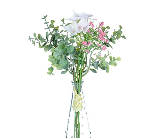 (Hydrangea/Eucalyptus Baby Breath Indoor Fake Plants Light Pink Artificial Flowers Wall Decor for Office Planter On Wedding Decorations for Flower Vase Party Decorations)