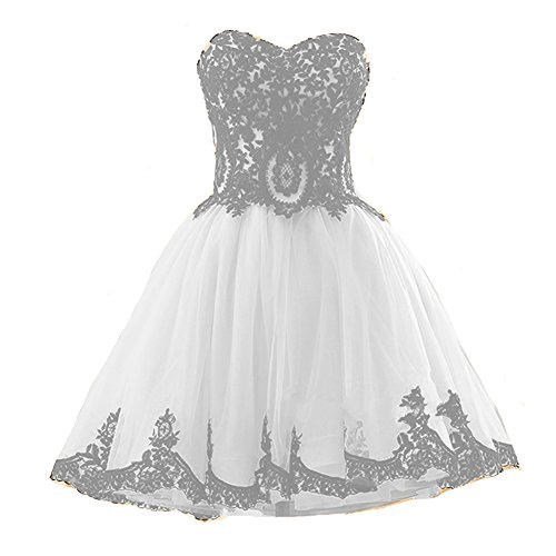 Party Kivary Homecoming Prom Dresses Cocktail Gothic Lace Ivory Vintage Short Black Tulle 6ZUBqz6r