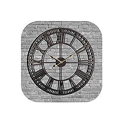 Wall Clock Vintage Wall Clock 60Cm Large Clock Watch Wrought Metal Industrial Iron Clock Watch Classic,Black,23
