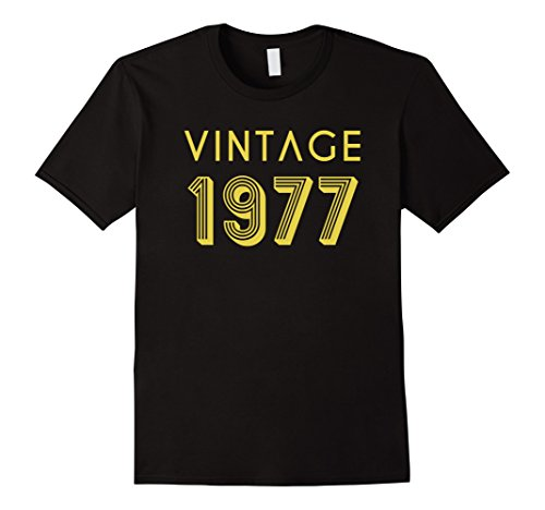 Mens 40th Birthday Gift Shirt Cool Vintage Retro 40 Year Old 1977 Large Black (40 Year Old Party Decorations)