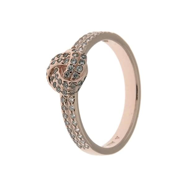 Pandora Jewelry – ShimmeRing for Women Knot Ring for Women in Pandora Rose with Clear Cubic Zirconia