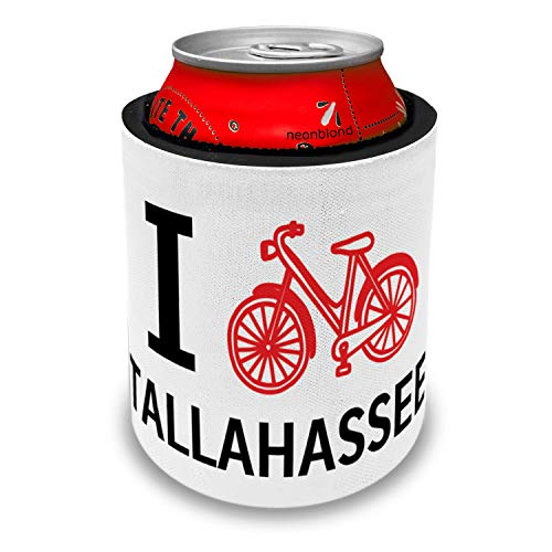 NEONBLOND I Love Cycling City Tallahassee Slap Can Cooler Insulator Sleeve -