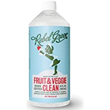 Rebel Green Fruit and Veggie Cleaner, Natural Fruit & Vegetable Produce Wash - 34 Ounce Refill