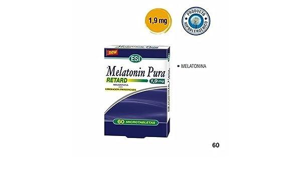 Melatonin Retard Pura. 60 Cap. 1,9 Mg. de Trepatdiet-Esi: Amazon.es: Salud y cuidado personal