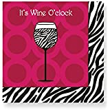 Design Design Wine O'Clock Cocktail Napkins, Multicolor