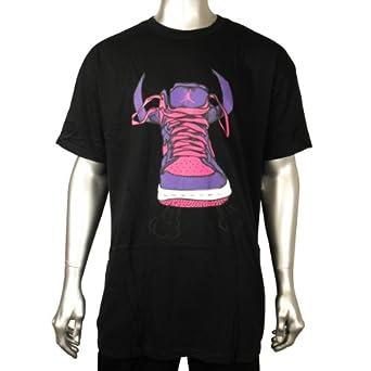 Mens Nike Air Jordan Graphic Black Trainer Wings Basketball