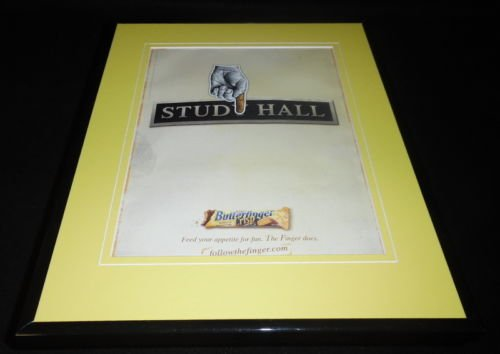 2006-butterfinger-crisp-framed-11x14-original-vintage-advertisement