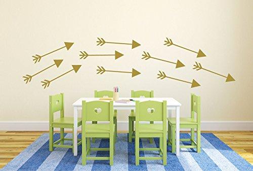 CustomVinylDecor Arrow Decals Vinyl Wall Stickers - Playroom Decor to Decorate Kids Room, Nursery, Preschool, Library, School Classroom ()