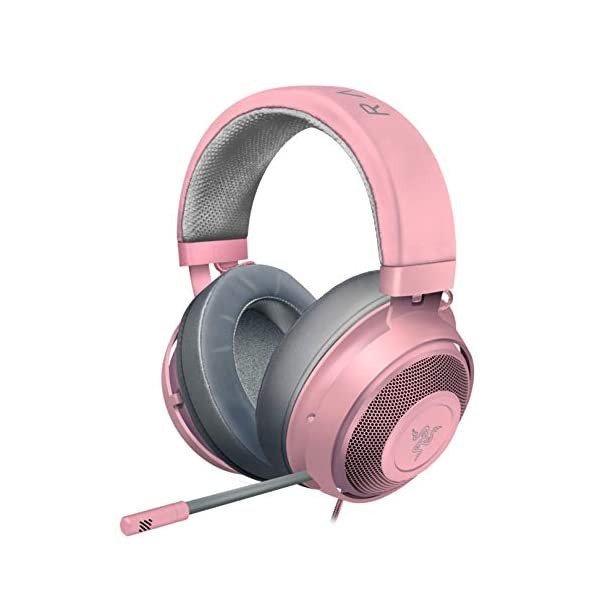 Razer-Kraken-Gaming-Headset-Lightweight-Aluminum-Frame-Retractable-Noise-Isolating-Microphone-For-PC-PS4-PS5-Switch-Xbox-One-Xbox-Series-X-S-Mobile-35-mm-Audio-Jack-Quartz-Pink