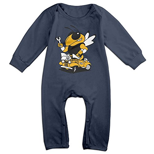 Price comparison product image OOKOO Baby's Georgia Institute Of Technology Bodysuits Outfits Navy 6 M