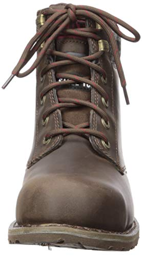 Caterpillar Women's Kenzie Steel Toe Construction Boot Bark 5 W US (Color: Bark, Tamaño: 5 Wide)