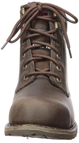 Caterpillar Women's Kenzie Steel Toe Construction Boot Bark 6 W US (Color: Bark, Tamaño: 6 Wide)