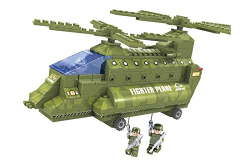 Double Rotor Helicopter - Army Guard Max War Ausini Double Rotor Helicopter 308pc Educational Building Blocks Set – Best Gift for Boys and Girls
