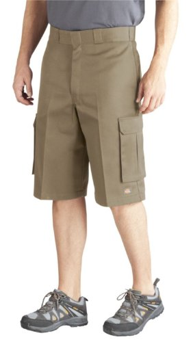 Dickies Men's 13 Inch Loose Fit Twill Cargo Short, Desert Sand, 40
