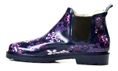 Purple New Boots 4 Styles In Boots Ankle Rain Available pluie de Bottes Flower Women's Garden Short Rubber rwgr0q