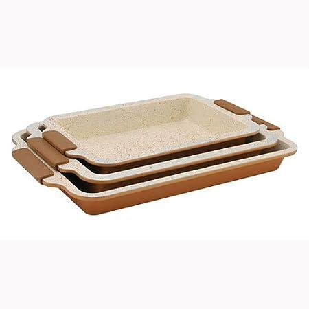 3 bandejas para horno ROYALTY LINE revestimiento de cerámica ...