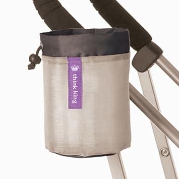 Amazon.com : Soft Copa Buggy para cochecito, silla de ruedas, andador, Walker, Negro / Plata : Baby