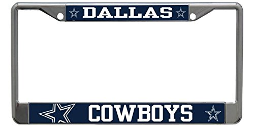 Stockdale Dallas Cowboys NFL Laser Chrome Metal License Plate Frame Tag Holder … - Dallas Cowboys Laser License Plate