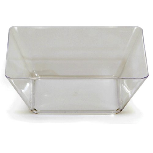 Good Creative Halloween Costumes (Creative Converting 4 Count Square Plastic Bowl, 5-Inch, Clear)