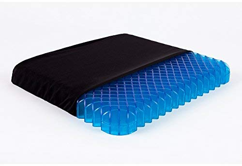 Wondergel Original Gel Seat Cushion for Pressure Relief - Seat Cushion for Cars - Office Chairs - Tailbone Pain & Sciatica Pain. Breathable Gel Sits Cool
