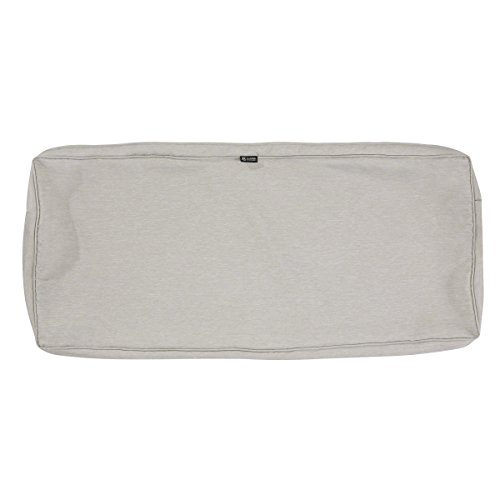 Classic Accessories Montlake Patio FadeSafe Bench Cushion Slip Cover, Grey, 54″Wx18″ ...