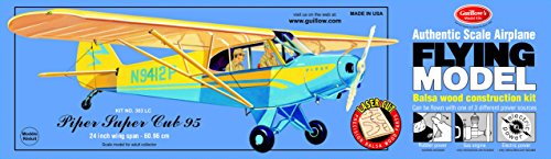 Guillow's Piper Super Cub 95 Laser Cut Model Kit (Super Scale Wood)