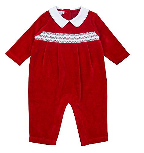 - Kissy Kissy Holiday Velour Playsuit-6/9M
