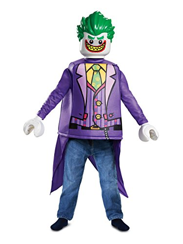 Disguise Joker Classic Child Costume, Purple, Medium/(7-8)]()