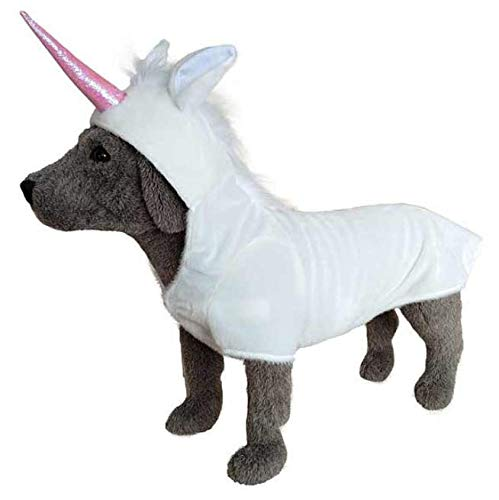 Adorable White Mane with Pink Horn Unicorn Costume for Dogs – XXL