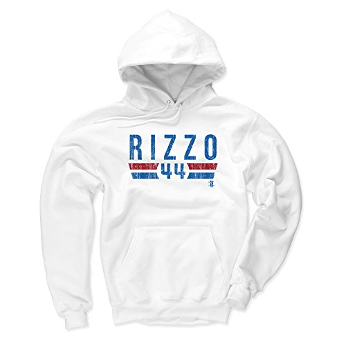 500 LEVEL Chicago Baseball Men's Hoodie - X-Large White - Anthony Rizzo Font - Sweater Anthony