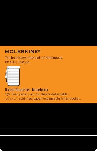 Moleskine Classic Hard Cover Reporter Notebook, Ruled, Pocket Size (3.5