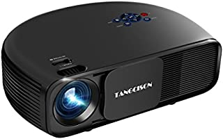 TANGCISON Home Projector Video Projector,LED Projector 3300Luminous 1080P Portable Projector Office Projector Multimedia Home Theater Movies Projector for Cinema Laptop Game