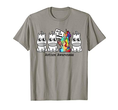 It's ok to be different Autism Awareness Unicorn Gift Shirt (Autism Womens T-shirt)