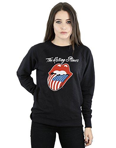 Stones Rolling Mujer Entrenamiento De Tongue Negro American Camisa Rdqdg1