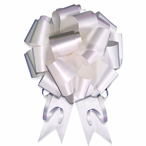 SKD Party by Forum 10-8'' White Pull Bow Pew Bows Wedding Decorations Wrap by SKD Party by Forum