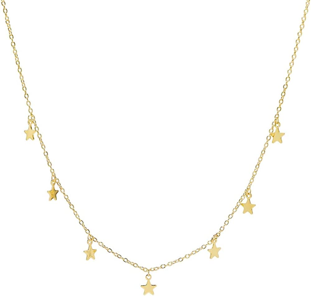 Heart Made of Gold Star Choker Necklace