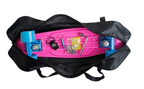 Cooplay 22 Banana negra Penny Skateboard llevar bolso bolso mochila correas con ningún patín