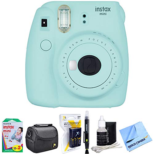 Fujifilm Instax Mini 9 Instant Camera Ice Blue  with 20 Shee