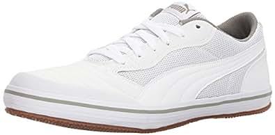 PUMA Men's Astro Sala Sneaker, White, 4 M US