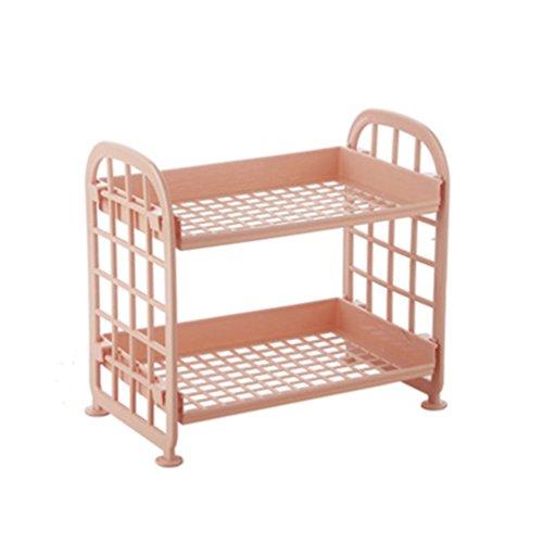 Tip Dish Display (Haotfire 2-Tier Kitchen Storage Organizer Shelves Best Countertop Organizing Shelf Stand for Utensils, Spices & More)