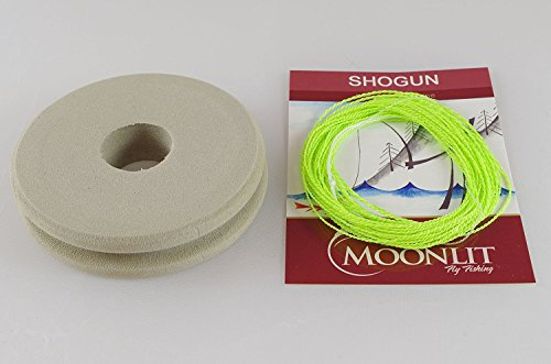 Moonlit Fly Fishing Shogun Furled Tenkara Line (Light Weight Nymph line) Quality Made in USA - Includes Line Holder (Chartreuse/Neon Green, 12.5 ft)